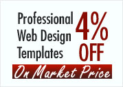 Low cost professional Web Design templates at a discount