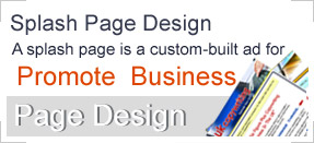 Splash Page Design include Splash Pages we have done for our clients